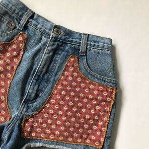Pants - Vintage Steel High Rise Patch shorts size 3